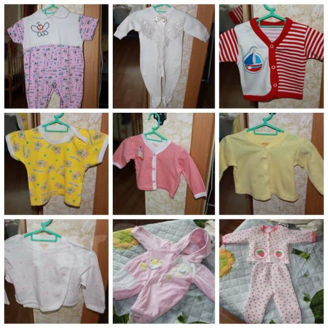 Вещи на девочку от 0 до 6 месяцев. Рост: 50-60, 60-68, 68-74 см