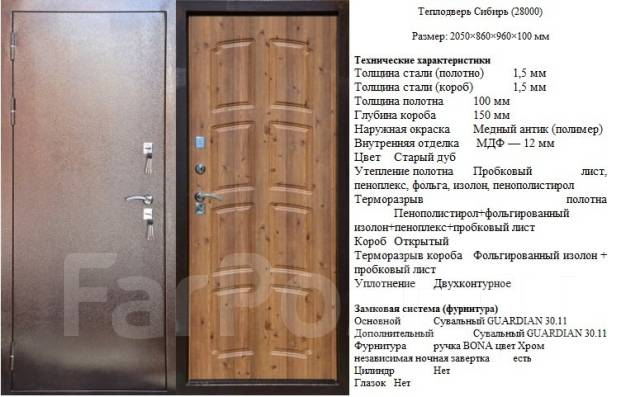 Двери входные.
