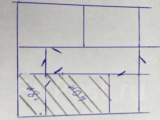 Сдается офисное помещение Район Некрасовская. 58 кв.м., проспект Красного Знамени 59, р-н Некрасовская. План помещения
