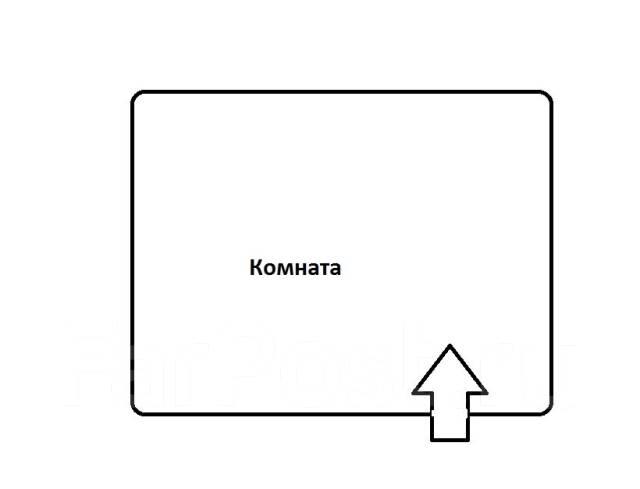 Комната, улица Руднева 1б. Баляева, агентство, 12 кв.м. План квартиры