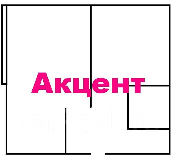 1-комнатная, улица Кирова 20а. Вторая речка, агентство, 32 кв.м. План квартиры