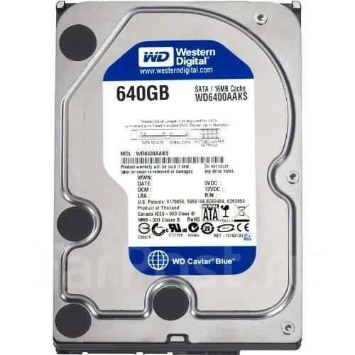 Жесткие диски. 640 Гб, интерфейс SATA