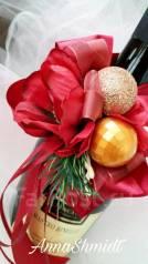 Новогоднее украшение на шампанское