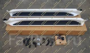 Подножки с подсветкой Land Cruiser 200 (Ленд Крузер) белые перл. с 16г-. Toyota Land Cruiser
