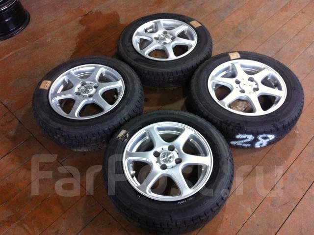 Колеса Zephyr R14; Dunlop DSX 165/70R14. 5.5x14 4x100.00 ET46 ЦО 66,0мм.