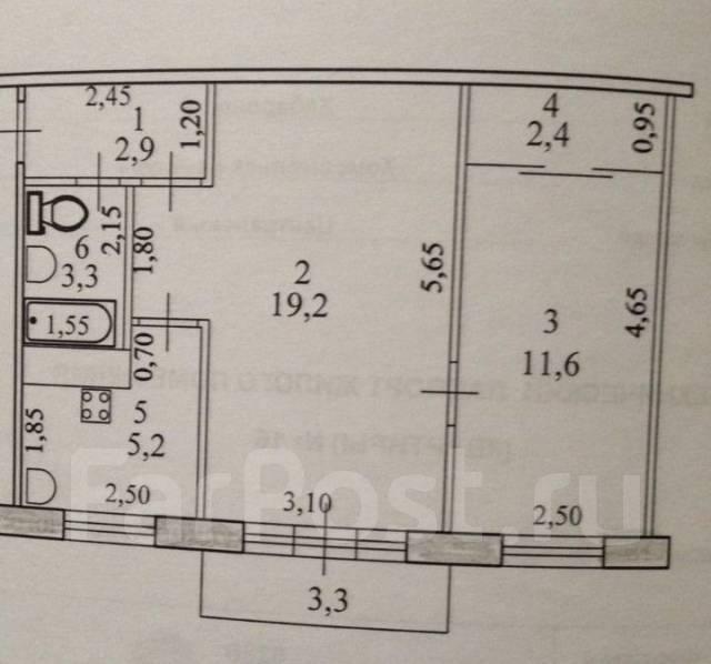 2-комнатная, улица Котовского 9к2. агентство, 42 кв.м.
