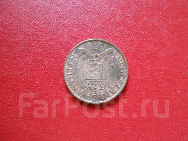 Антильские Нидерланды 2.5 цента 1974 года .