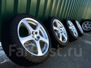 Аккуратные колеса Sibilla R-T R17 5*100+жирная зима Goodyear 215/45/17. 7.0x17 5x100.00 ET48 ЦО 66,0мм.