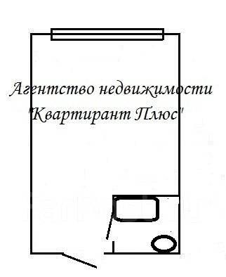 Гостинка, улица Луговая 50а. Баляева, проверенное агентство, 17 кв.м. План квартиры