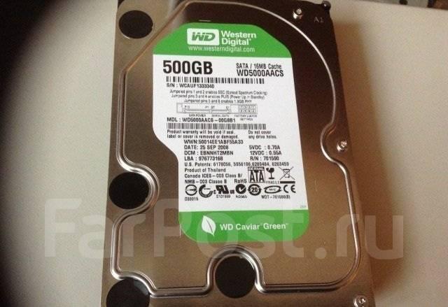 Жесткие диски 3,5 дюйма. 500 Гб, интерфейс, Sata