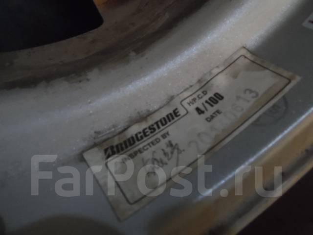 Шины зимние Bpidgestone 165/65 R14 с дисками 4*100. 4.5x14 ET45