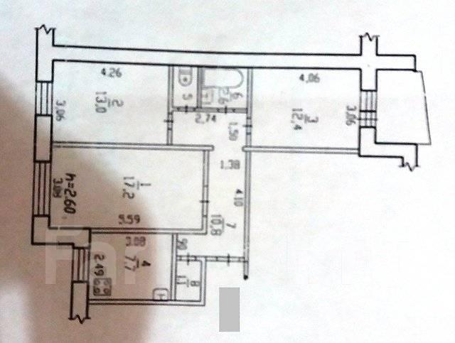 3-комнатная, квартал 40-летия Победы 7. Краснофлотский, агентство, 66 кв.м.