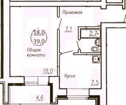 1-комнатная, ул. Марины Расковой 30. Железнодорожный, агентство, 38 кв.м.