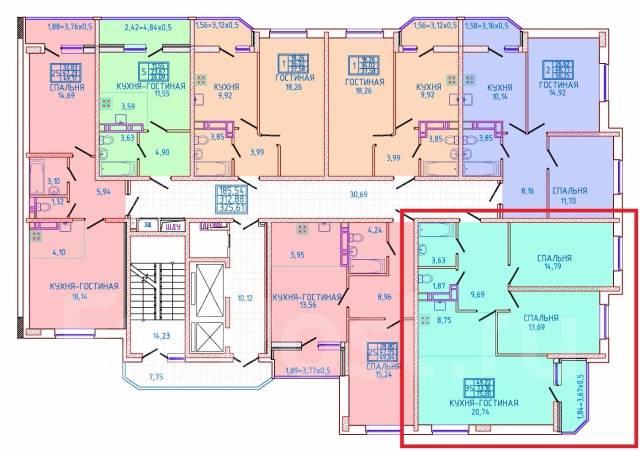 3-комнатная, г. Краснодар, имени Героя Яцкова И.В. прикубанский, частное лицо, 75 кв.м. План квартиры