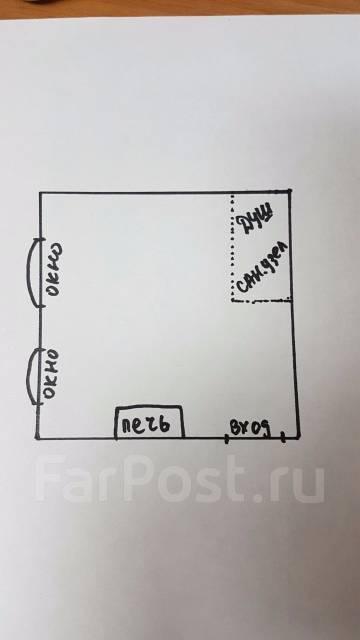 1-комнатная, улица Щитовая 20. Горностай, частное лицо, 27 кв.м. План квартиры