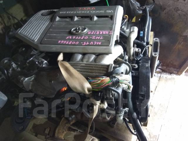 Двигатель. Toyota Harrier, MCU15 Двигатель 1MZFE