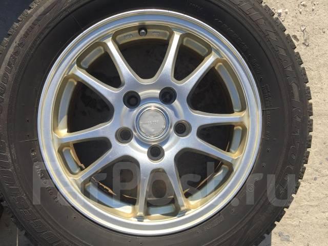 195/65 R15 Bridgestone Revo GZ литые диски 5х100 (L8-1506). 6.0x15 5x100.00 ET45