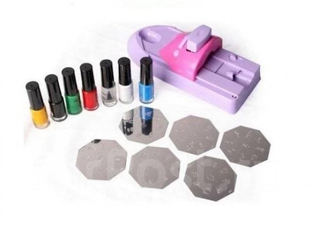 Набор для дизайна ногтей с печатями