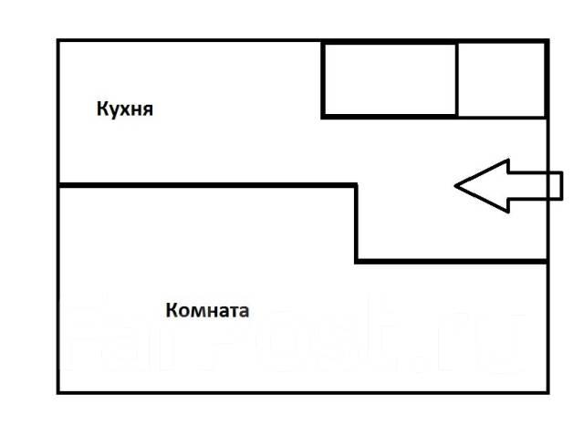 1-комнатная, улица Луговая 59а. Луговая, агентство, 32 кв.м. План квартиры