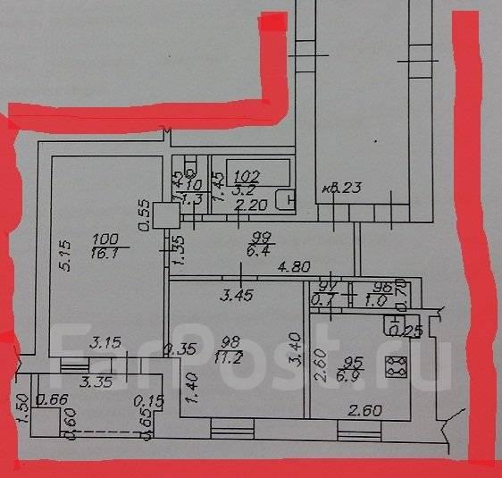 2-комнатная, улица Красная 167. Центр, агентство, 50 кв.м.