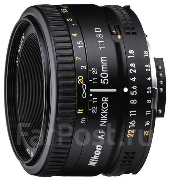 Обьектив 50mm D f1.8. Для Nikon, диаметр фильтра 52 мм