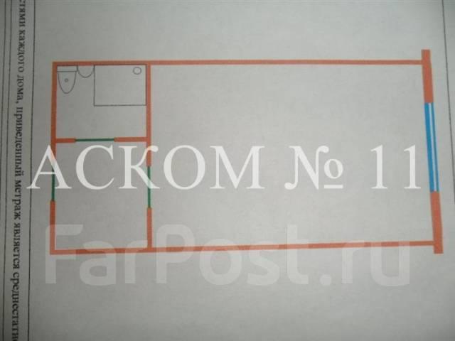 Гостинка, проспект Красного Знамени 133/1. Третья рабочая, агентство, 24 кв.м. План квартиры