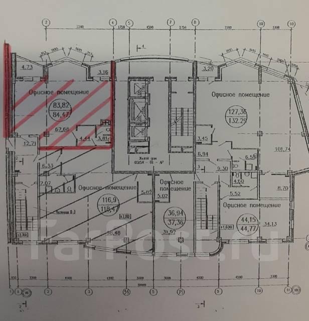Сдам нежилое помещение в жилом комплексе Атлантис2. Улица Тигровая 16а, р-н Центр, 70 кв.м., цена указана за квадратный метр в месяц. План помещения