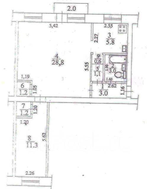2-комнатная, пр.Копылова, 33. Ленинский, агентство, 56 кв.м.