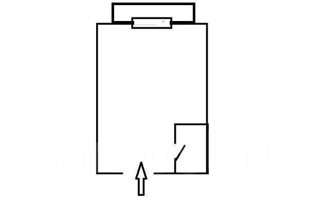 Комната, улица Фадеева 10б. Фадеева, агентство, 14 кв.м. План квартиры