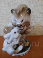 "Фарфоровая статуэтка ""Заяц во хмелю"". ЛФЗ,1-сорт. Оригинал"