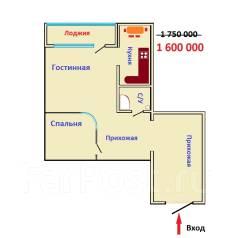 2-комнатная, улица Рахманинова 21. Прикубанский, агентство, 48 кв.м.