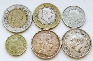 Турция. Подбор монет без повторов. Лот 1
