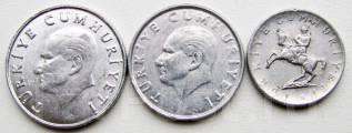 Турция. Подбор монет без повторов. Лот 2