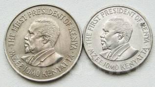 Кения. 1 шиллинг разных годов