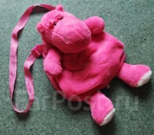 Сумочка-муфта Розовый Бегемот. новая.