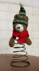Новогодний мишка-наконечник на ёлку и не только. Hand Made. новый