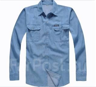Рубашки джинсовые. 56, 58