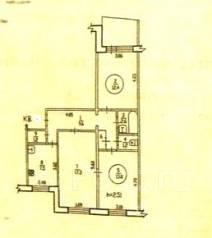 3-комнатная, улица Ворошилова 4. Индустриальный, агентство, 68 кв.м.