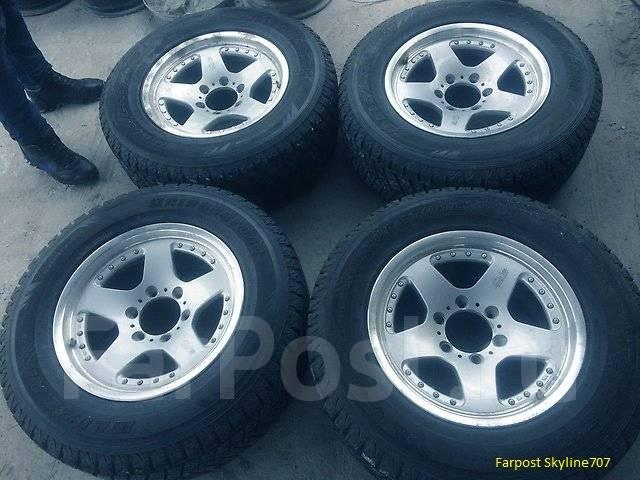 Продам комплект колёс 265/65R17 (отправлю в регион). 8.0x17 3x98.00, 6x139.70 ET22 ЦО 110,0мм.