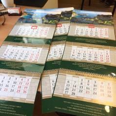 Печать календарей, дизайн и печать, квартальный календарь, блокнот