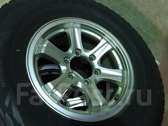 Отличная зима Bridgestone DM-V1 265/70/16 на оригинальных Weds 26/7/16. 7.0x16 6x139.70 ET26