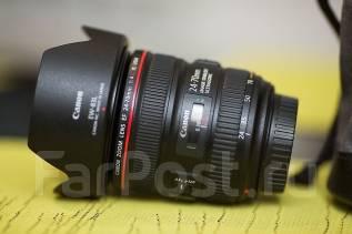 Объектив Canon EF 24-70mm f/4L IS USM, объектив как новый. Для Canon, диаметр фильтра 77 мм