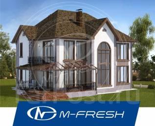 M-fresh Cad!llac-зеркальный (Проект дома с витражом и вторым светом! ). 200-300 кв. м., 2 этажа, 5 комнат, бетон