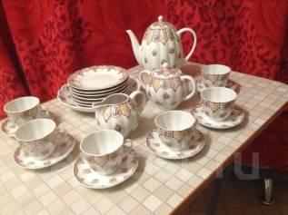 Посуда сервиз чайный ( кофейный ) на 6 персон .
