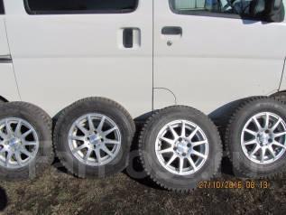 Продам колеса 165/80/R-13. с зимней резиной на литых дисках. x13 4x100.00 ЦО 65,0мм.