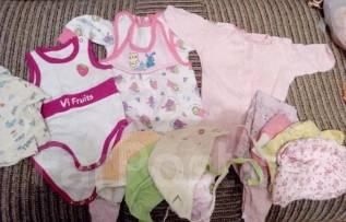 Вещи пакетом для девочки 0-3мес. Рост: 50-60 см
