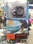 Спортивная камера Full HD sports cam x6000 ip65 . Новая ? %. На фото. 10 - 14.9 Мп, с объективом