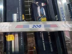 Накладка на порог. Peugeot 206