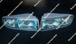 Туманки Lexus LX470 (ПТФ Лексус) зеленоватые, линза, новые