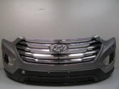 Бампер передний с решеткой под омыв. фар hyundai santa fe grand 14- б. Hyundai Santa Fe. Под заказ